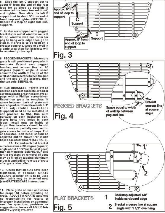 Full Installation Instructions For The Adjustable Grates Adjust A